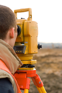 A surveyor at work